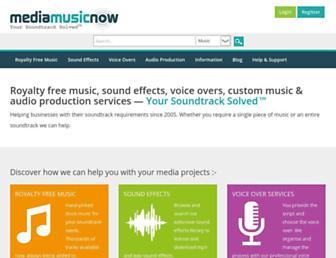 mediamusicnow.co.uk screenshot