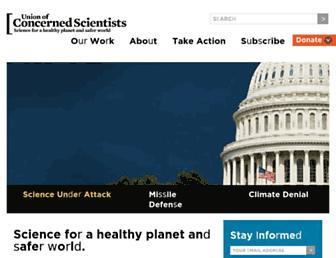 Main page screenshot of ucsusa.org