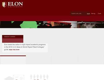 elon.edu screenshot