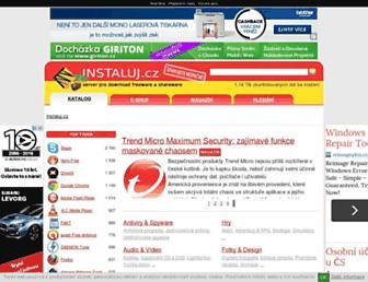 Main page screenshot of instaluj.cz