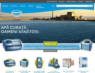 ro.hach.com screenshot