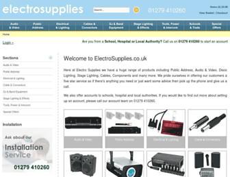 electrosupplies.co.uk screenshot