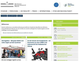 Main page screenshot of wiwi.uni-muenster.de