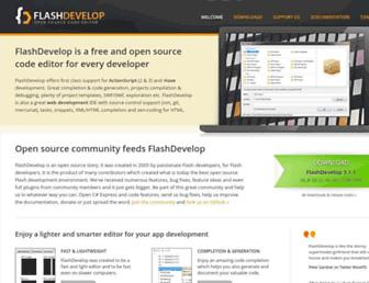 flashdevelop.org screenshot