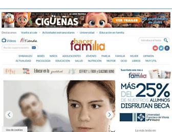 hacerfamilia.com screenshot