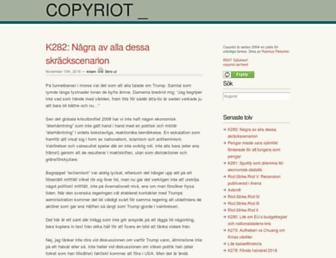 Main page screenshot of copyriot.se