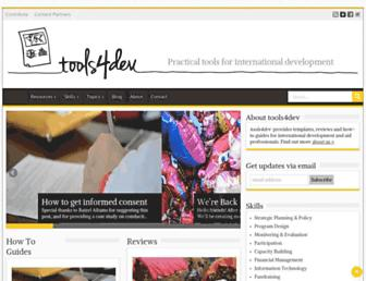 tools4dev.org screenshot