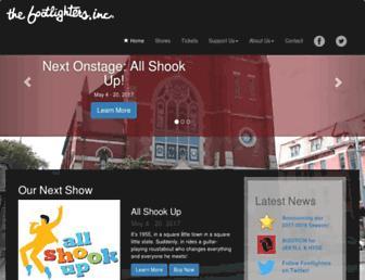 footlighters.org screenshot
