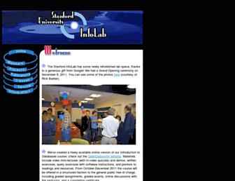 infolab.stanford.edu screenshot