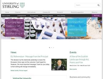Main page screenshot of stir.ac.uk