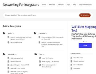 networkingforintegrators.com screenshot