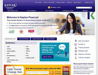 financial.kaplan.co.uk screenshot