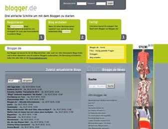 Main page screenshot of blogger.de