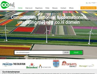 Main page screenshot of co.nl