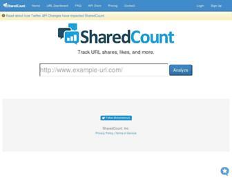 sharedcount.com screenshot