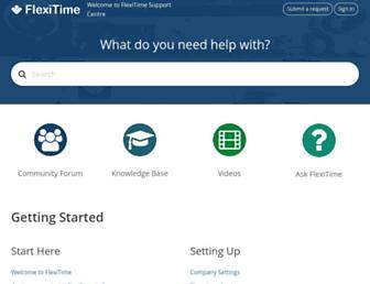 support.flexitime.co.nz screenshot