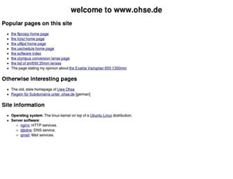 ohse.de screenshot