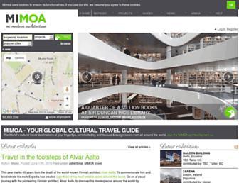 Main page screenshot of mimoa.eu