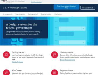 designsystem.digital.gov screenshot