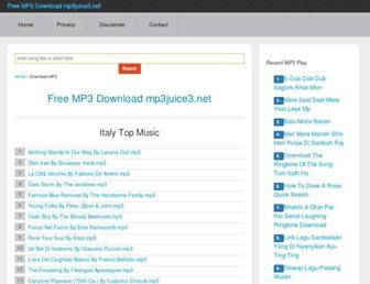 mp3juice3.net screenshot