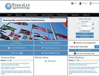 Main page screenshot of terralex.org