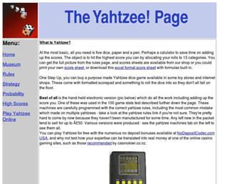 yahtzee.org.uk screenshot