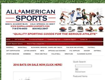 shopallamericansports.com screenshot