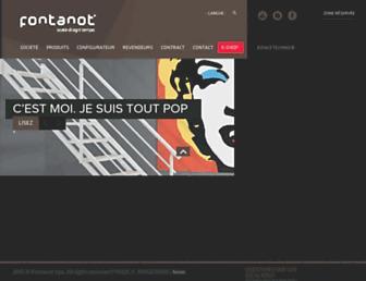 fontanot.fr screenshot