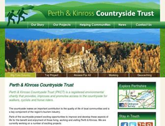 Main page screenshot of pkct.org