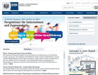 frankfurt-main.ihk.de screenshot