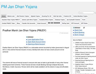 pmjandhanyojana.co.in screenshot