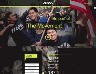 Main page screenshot of iava.org