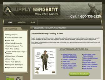 supplysergeant.com screenshot
