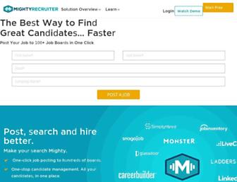 mightyrecruiter.com screenshot