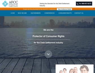 Main page screenshot of americanfaircreditcouncil.org