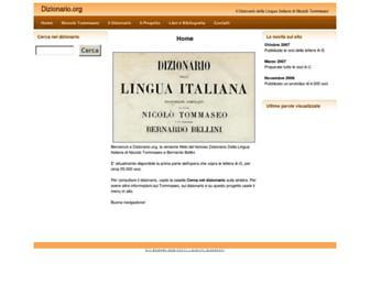 Thumbshot of Dizionario.org