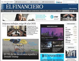 Main page screenshot of elfinanciero.com.mx