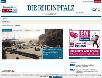 Main page screenshot of ron.de