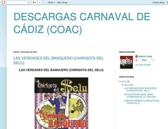 descargascarnaval.blogspot.com screenshot