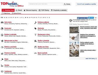 Main page screenshot of topkontakt.idnes.cz