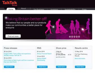 Thumbshot of Talktalkgroup.com