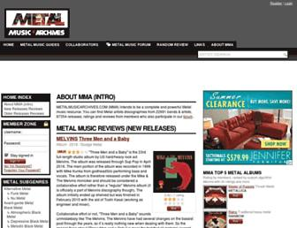 metalmusicarchives.com screenshot
