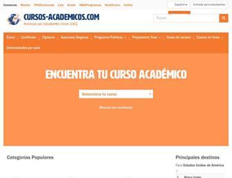 cursos-academicos.com screenshot