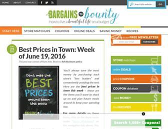 Thumbshot of Bargainstobounty.com