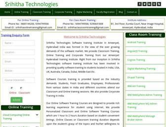 Thumbshot of Srihithatechnologies.com