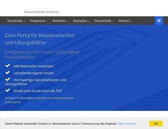 Thumbshot of Klassenarbeiten.de