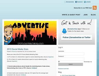 Main page screenshot of adv.erti.se