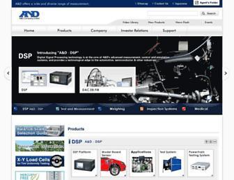 Main page screenshot of aandd.jp