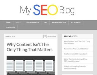 Main page screenshot of myseoblog.net