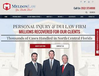 meldonlaw.com screenshot